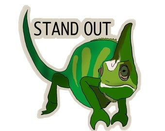 Stand Out Sticker