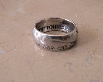 1957 Franklin Half Dollar Coin Ring- Silver (.900)
