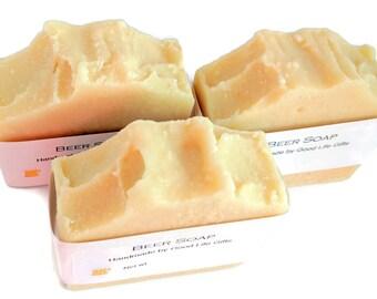 Beer soap, mens soap, unscented soap, natural soap