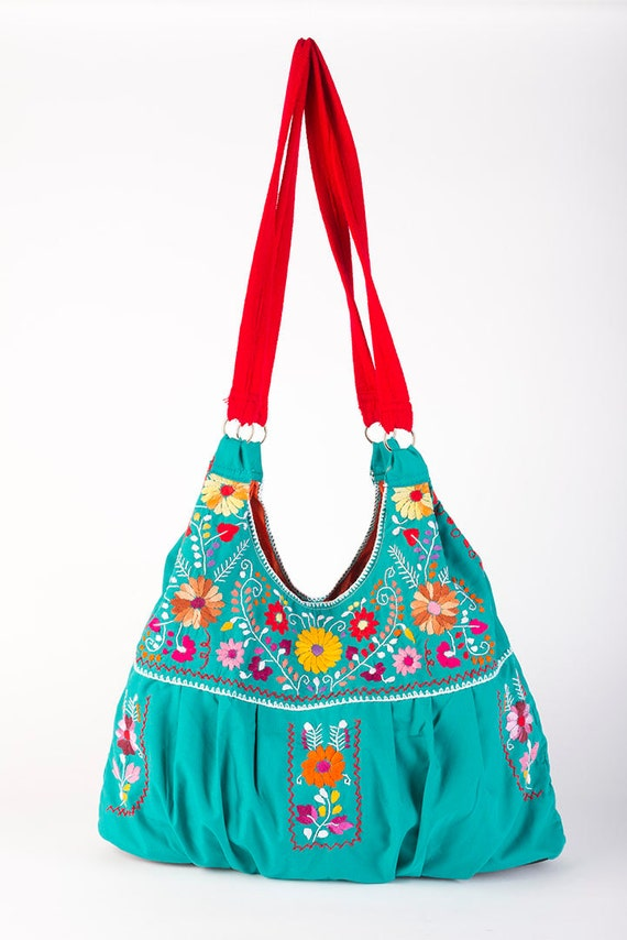 Mexican dress purse embroidered by rojoturquesa on