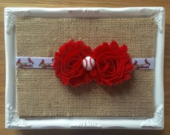 St. Louis Cardinals Headband, Stl Baby Headband, Cardinals Headband, Newborn, Baby, Toddler, and Child Headband,