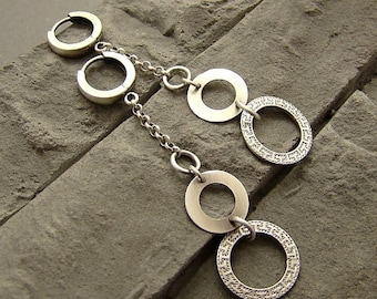 Sterling silver earrings/oxidized silver