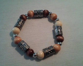 Stretch Wooden Bead Bracelet