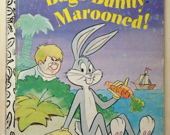 Bugs Bunny Marooned! - Vintage Childrens Book - Little Golden Book