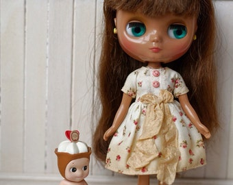 Middie Blythe dress tea stained