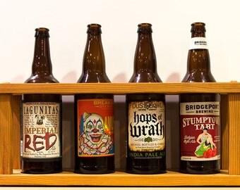 Beer Display Case for 22oz Bottles - Vertical Grain Doug Fir