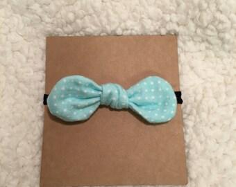 Tiffany blue polka dot bow