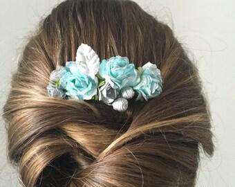 Headdress - flower comb
