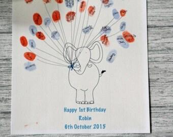 Elephant Fingerprint guest book