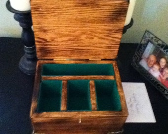 Burnt Oak Jewelry Box