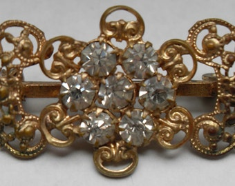 Antique Victorian Gold Filled Pin Brooch