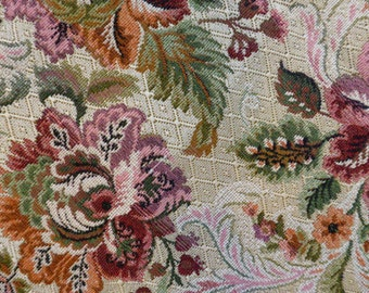 Tapestry Upholstery Fabric Scrap, Floral