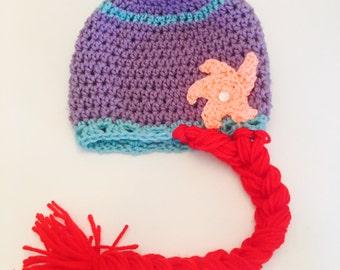 Mermaid crochet hat