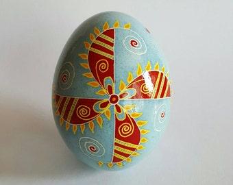 Bright windmill Pysanky Ukrainian easter egg