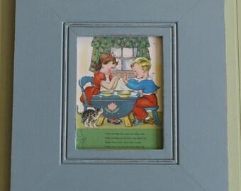 """18x21"""" Wood Framed Vintage Print"""