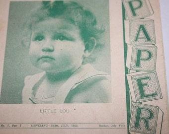 Vintage Sunday School Leaflets - My Papers - 1953 - Vintage Children Prints