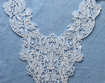VintageWhite Venise Yoke Applique-Sew on-Crafts, sewing