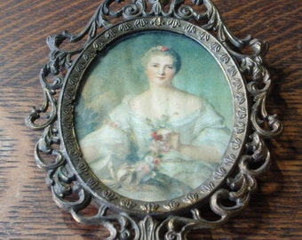 Victorian Brass Picture Frame