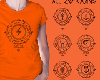 Camp Half Blood All 20 Cabins t shirt Percy Jackson and the Olympians Demigod women girl shirt