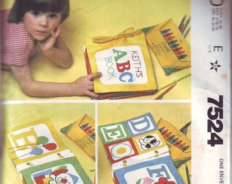 Children's Soft Books Pattern From McCall's in 1981. Unused