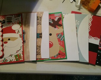 Variety set of 10 christmas cards.