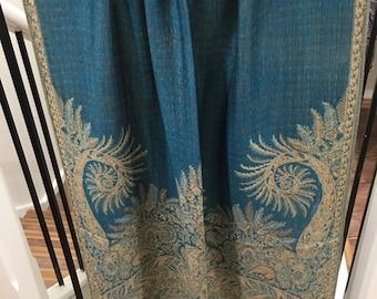 Pashmina thicker Paisley turquoise