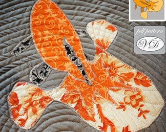 Tosakin goldfish / fish pdf applique template pattern