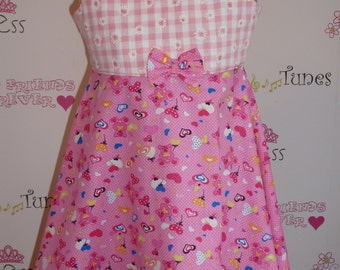 Ages 2 to 5 years 'Pretty in Pink' teddies and hearts dress
