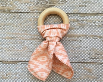 Tribal Aztec Wooden Teething Ring