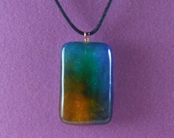 Beautiful Resin and Alcohol Inks Necklace