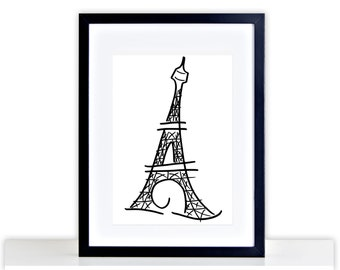 eiffel tower picture eiffel tower poster framed mounted gift home eiffel tower print picture eiffel tower photo frame eiffel tower 309