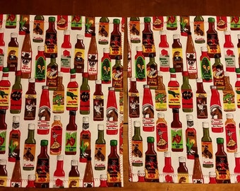 "Set of 6 Hot Sauce Cloth Napkins each 13.5"" X 15.5"""