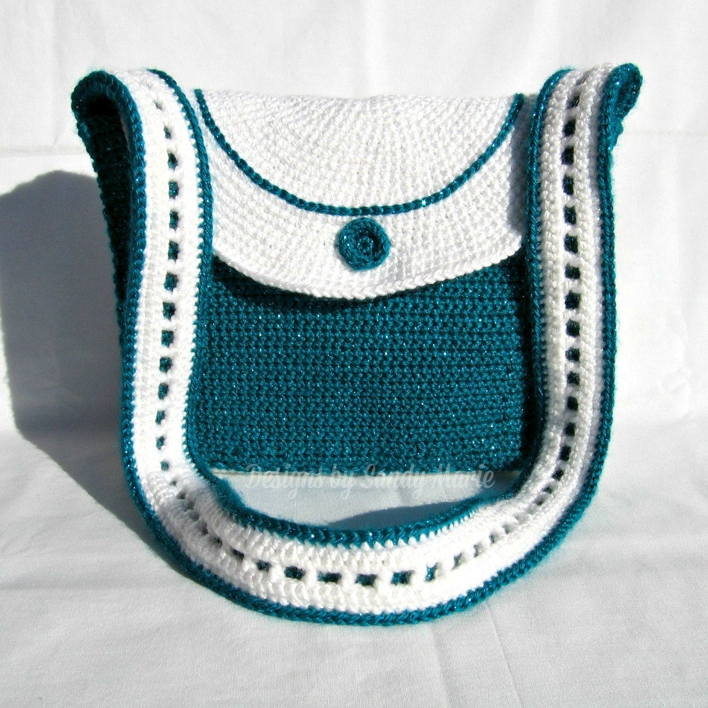 Crochet Evening Purse Pattern : Crochet Pattern Satchel Purse Evening Bag by ...