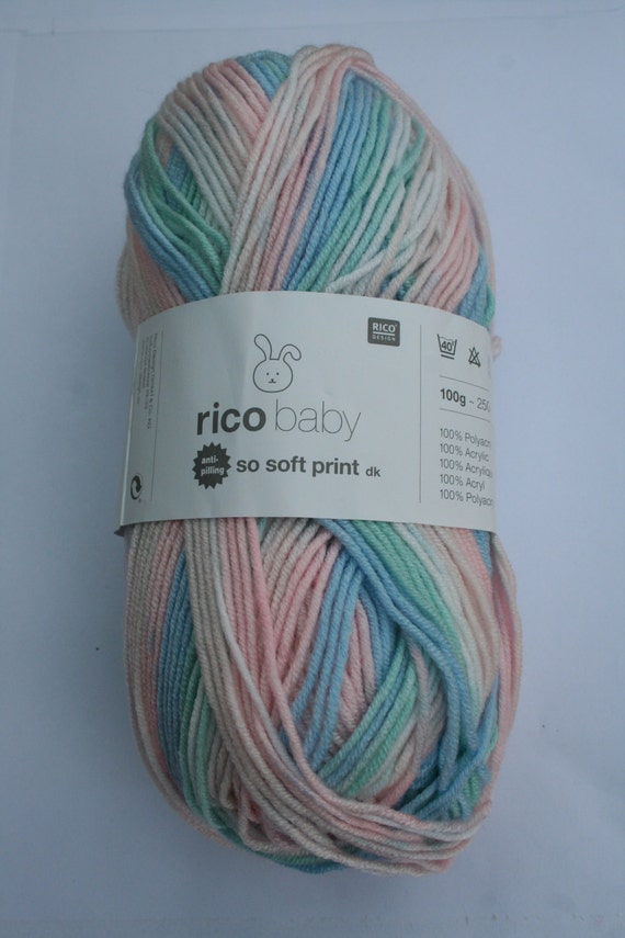 Rico Baby So Soft Print Dk Yarn Pastel 001 From