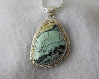 Mystic Sage Turquoise at it's best in this Pendant