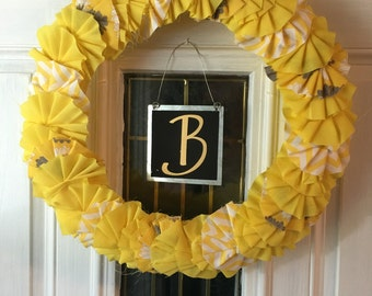 Sunshine Ruffle Wreath