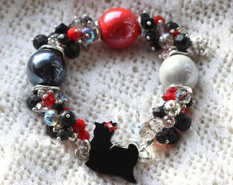 Yorkshire terrier beaded bracelet