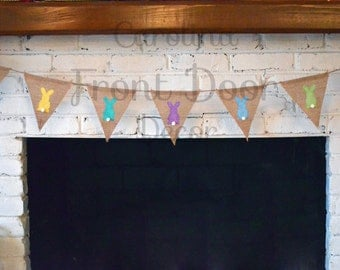 Burlap Easter banner/Happy Easter garland/ Easter banner/ Easter bunting/ Easter sign/ Easter decorations/ Easter photo pro