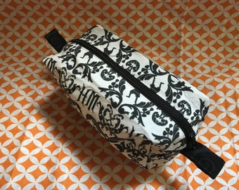 Black and White Haunted Mansion Makeup Bag