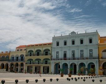 Colourful Square, Havana, Cuba Fine Art Photography Print