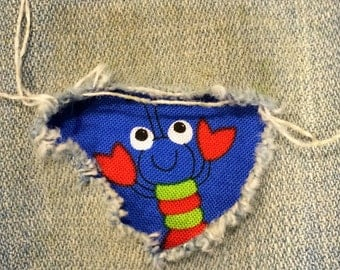 "2-fabric ""Peek a Boo""  Jean Patches Super Strong Iron On- Denim by Hol(e)y Patches"