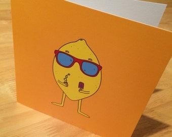 Funny Card Summer Lemon Greeting Card