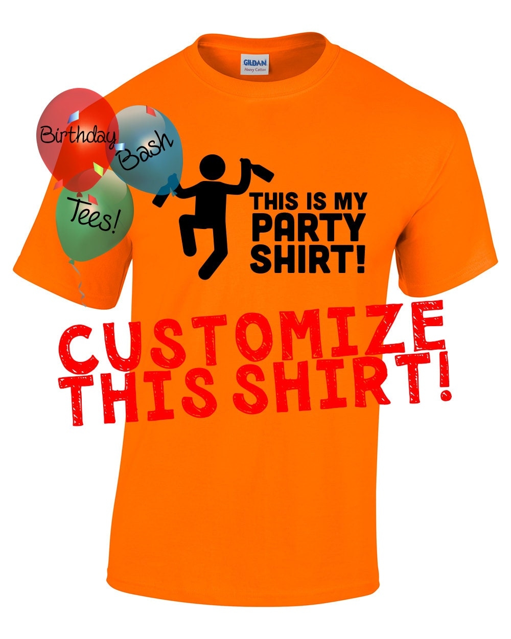 Custom Men's Shirt, Custom Women's Shirt, Customize your own Shirt ...