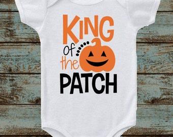 King of the Patch, Halloween Pumpkin, Happy Halloween Outfit, Baby Halloween Outfit, Kids