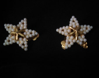 Starfish Clip on Earrings
