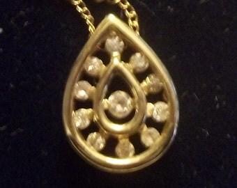 Vintage Estate Diamond Gold Pendant