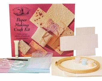 Casa de artesanías Kit de fabricación de papel hacerlo tú mismo a mano hecha a mano decorativa educativo