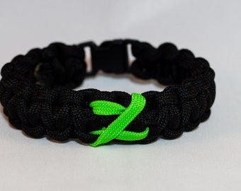 Black Zombie Awareness Paracord Bracelet