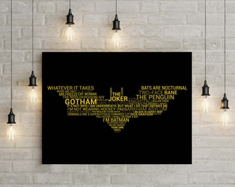 Batman Typography Print
