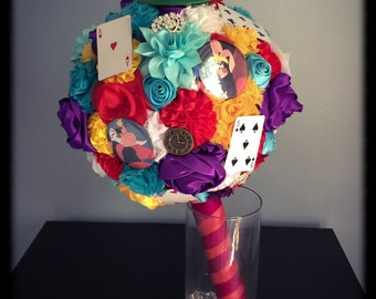 Alice in Wonderland wedding bouquet